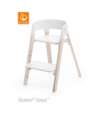 Steps™ Højstol, Bøg Whitewash