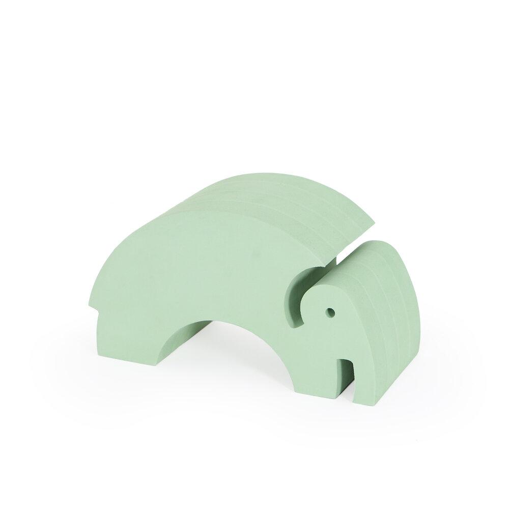 Image of   bObles Mellem Elefant - Grøn Marmor