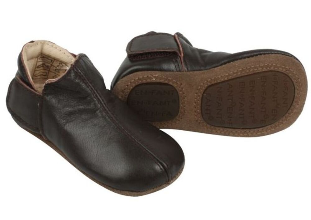 Image of   En Fant Adventure Slipper 2 x Velcro - Brun