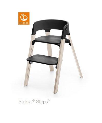 Steps™ Højstol, Bøg - Whitewash