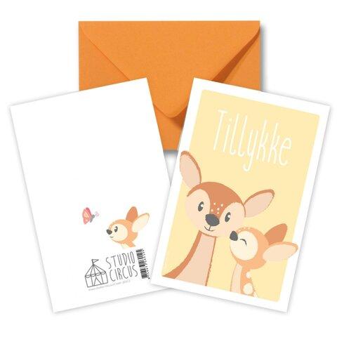 Tillykke Bambi, Dobbeltkort Med Kuvert