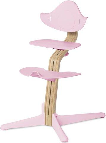 Højstol Pale Pink m. Lys Eg/Bøg