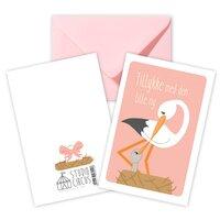 Tillykke Rosa, Dobbeltkort Med Kuvert
