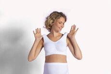 Sømløs Graviditets BH - Hvid