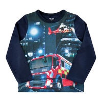 T-shirt Langærmet Brandbil - 7721