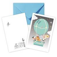 Luftballon, Dobbeltkort Med Kuvert