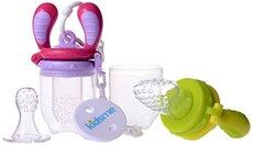 Food Feeder Starter Pack - Lime/Pink