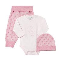 Baby Sæt Hue/Body/Bukser - 520 L.Rød