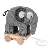 Hæklet pull-along, elefant grå