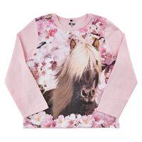 T-shirt Langærmet Med Hest - 5006
