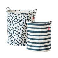 Soft st. basket, 2 pcs,blue