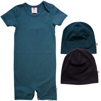 Pakke Med Body Og 2 Hatte - Dark Green