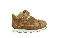Sandal-Sko Med Velcro Lukning - Tan