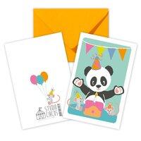 Panda, Dobbeltkort Med Kuvert