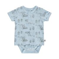 Mønstret T-shirt-Body - 734 Celestial Blue