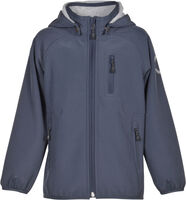 Mønstret Softshell Jakke - 287 Blue Nights
