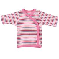 Wrap Bluse - Little Bee - Pink Strib