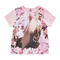 T-shirt Kortærmet Med Hest - 5006