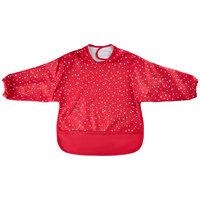 Mønstret PU-Forklæde - 4020 Rød