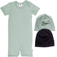Pakke Med Body Og 2 Hatte - Mint Green