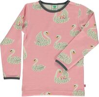 Uld Mix T-shirt Med Svaner - 525 Winter Pink