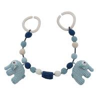 Hæklet Barnevognskæde, Elefanten Fanto, Lagoon Blue