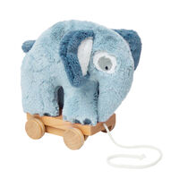 Plys Trækdyr Elefant, Blue