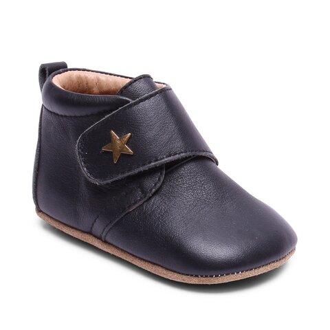 Hjemmesko, Velcro Star - 50 Black