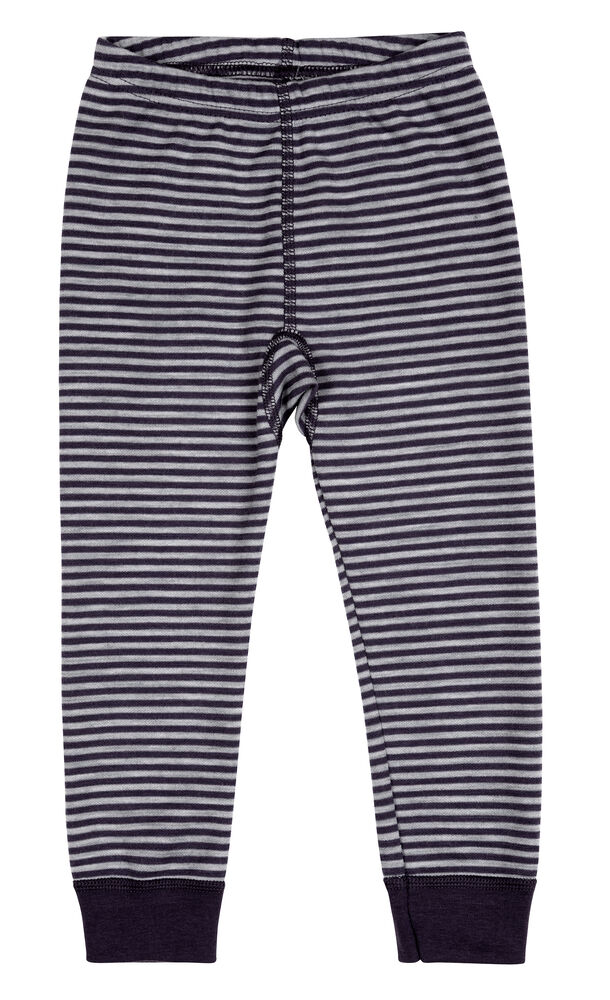 Image of   BeKids Leggings I Uldmix - Navy & Grå/6942
