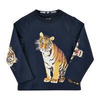 T-Shirt Langærmet Med Tiger - 7997