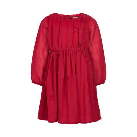 Kjole Med Chiffon Blomster - 4762