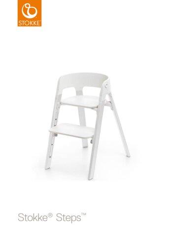 Steps™ Højstol, Hvid/Eg Hvid