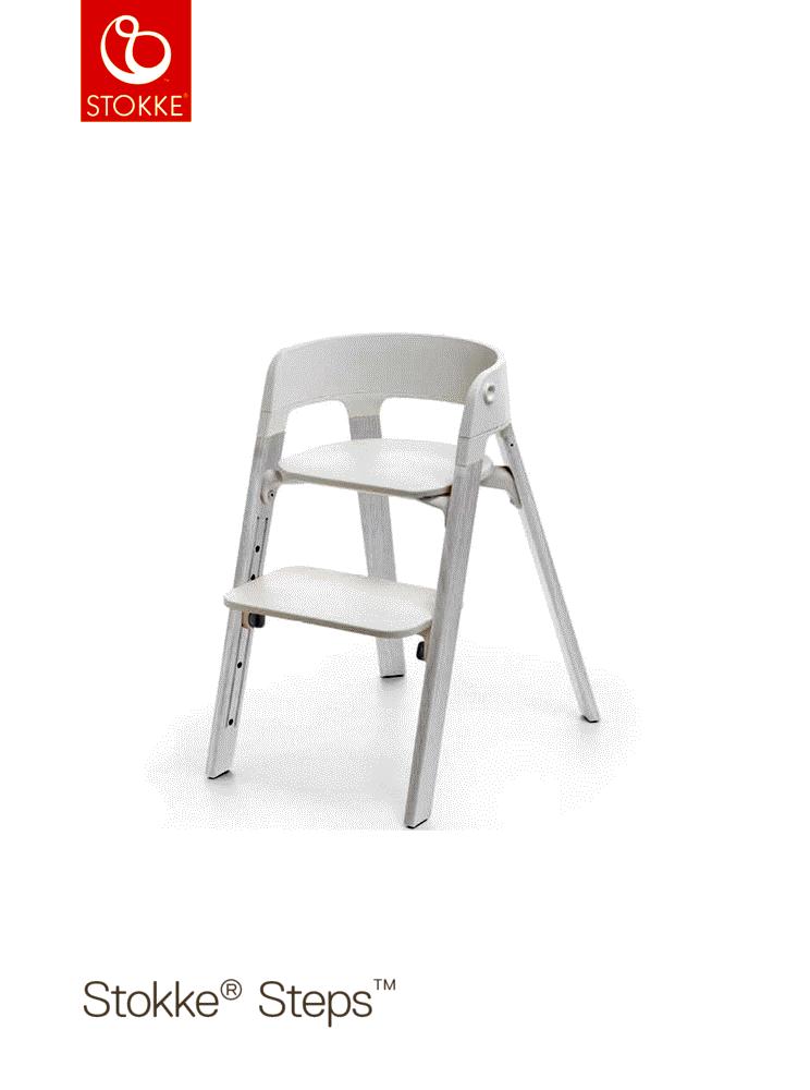 Image of   Stokke® Steps™ Højstol, Hvid/Eg Hvid