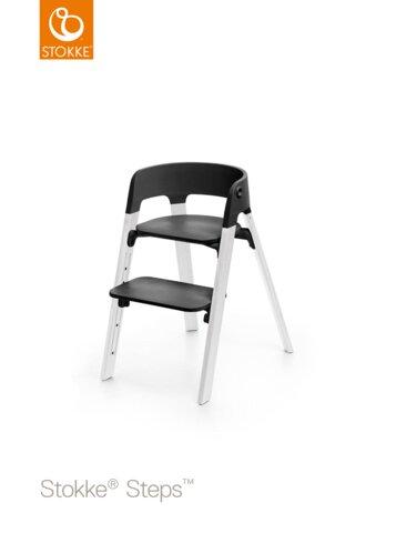 Steps™ Højstol, Sort/Eg Hvid