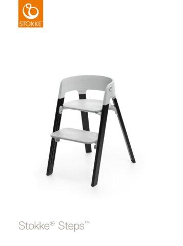 Steps™ Højstol, Grå/Eg Sort