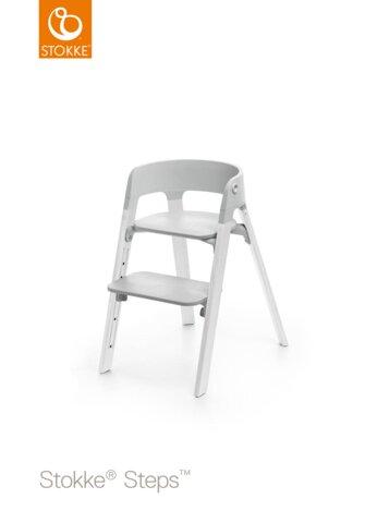 Steps™ Højstol, Grå/Eg Hvid
