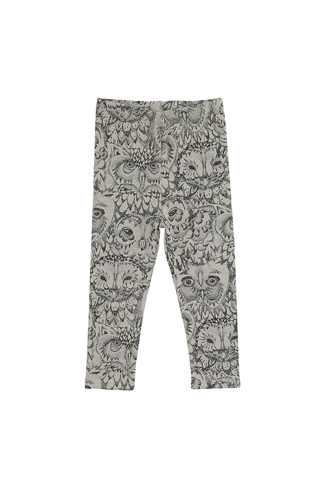 Image of Soft Gallery Paula Baby Leggings - Drizzle, AOP Owl (fba0bbd5-d467-483c-9bae-8ed42be3166e)
