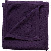 Strikket Tæppe, Lavender