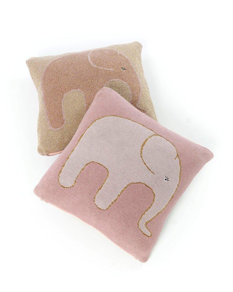 Image of   Smallstuff Elefant Pude, Rosa/Guld