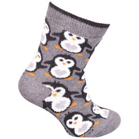 Babystrømpe, Small Pinguins - 140 Lancaster Grey Mel