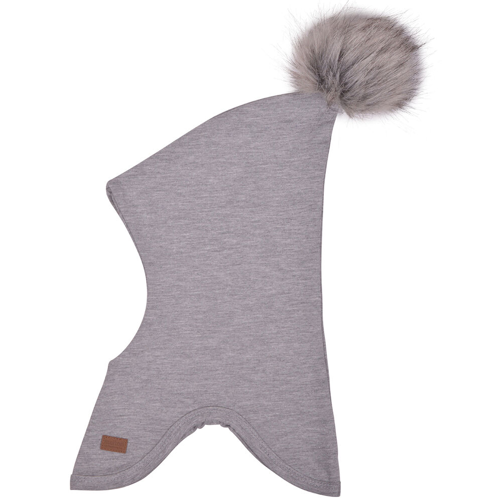 Melton Bomuldshue Med Pom Pom - 135 Light Grey Melange thumbnail