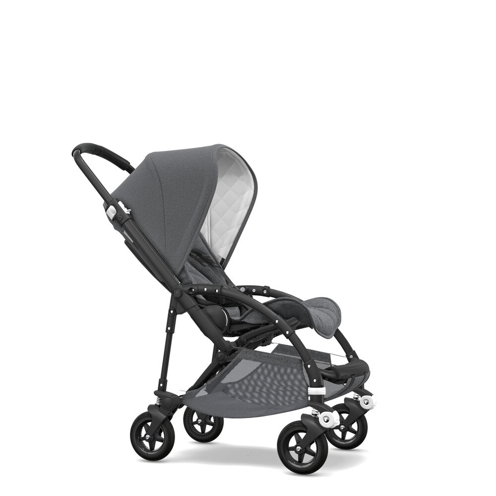 Image of   Bugaboo Bee5 Classic Complete - Black/Grey Melange