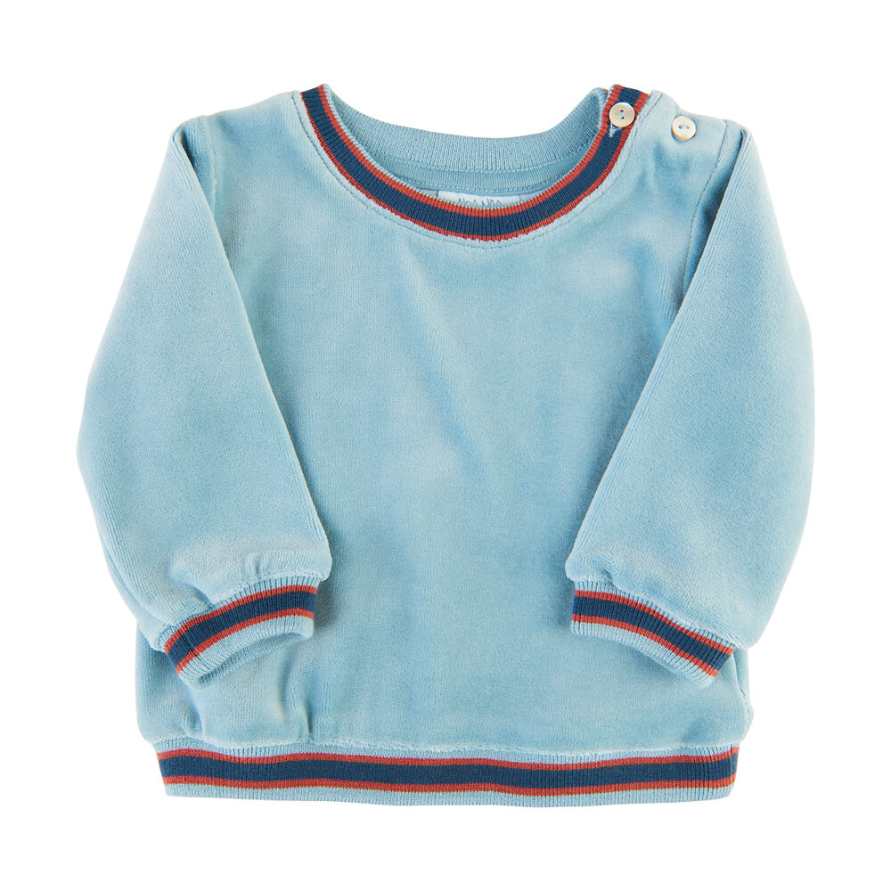 Noa Noa Miniature Langærmet Sweatshirt - Stone Blue thumbnail