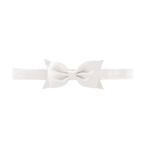 Hvid Medium Milledeux® Butterfly Hårsløjfe – Elastisk Hårbånd - 29