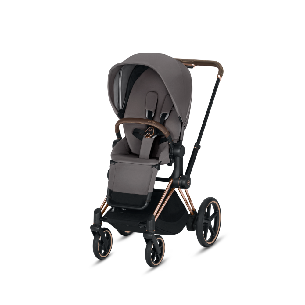 Image of   Cybex ePriam Klapvogn, Manhatten Grey Med Rose Gold Stel