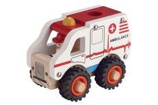 Ambulance I Træ Med Gummihjul