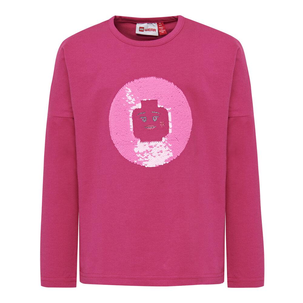 LEGO Wear Lwtippi 752 T-Shirt - 496 Dark Pink - Overdele - LEGO Wear