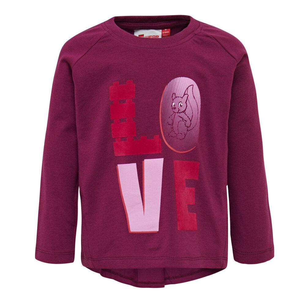 LEGO Wear Lwthelma 752 T-Shirt - 383 Bordeaux - Overdele - LEGO Wear