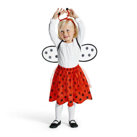 Mariehøne Kostume, 2-4 År