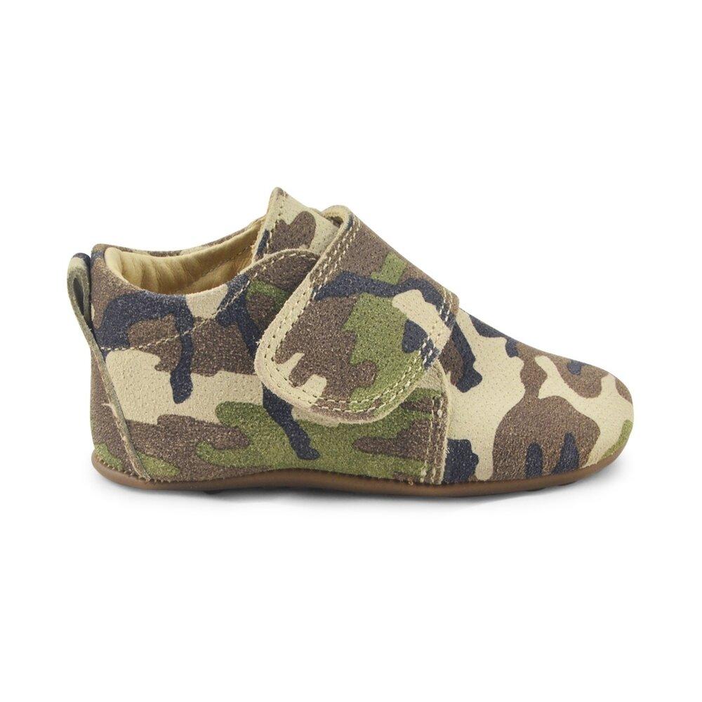 Image of Pompom Velcro Hjemmesko - Camouflage (42398ef9-6174-48a0-8364-faf9cc798653)